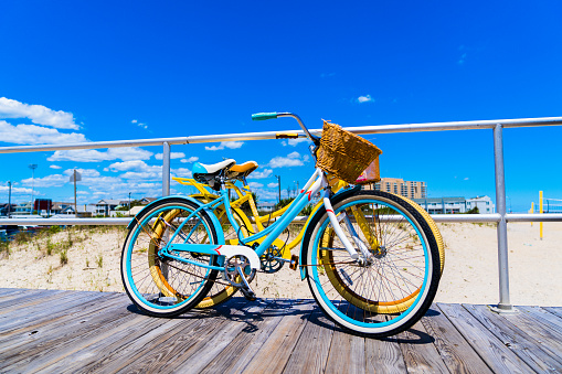 Old Style Bicycle on New Jersey Shore Boardwalk